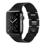 Модные антистатический браслет из нержавеющей стали украшения запястья замена Посмотреть ленту для Apple