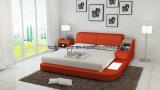 現代Pavanの革ベッドの現代Strongeのベッド