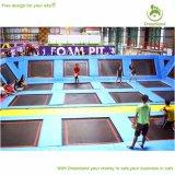 Nuevo parque del trampolín del partido de la aptitud de los cabritos y de los padres del diseño