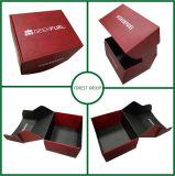 Boîte en carton rouge gratuit de 24 heures échantillon gratuit de conception