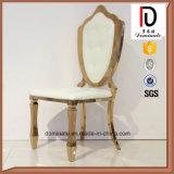 رشيق نوع ذهب إطار بيضاء عرض [ستينلسّ ستيل] مأدبة كرسي تثبيت