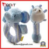 분홍색 코끼리 아기를 위한 최고 연약한 견면 벨벳 유아 가르랑거리는 소리 장난감