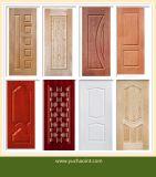 Деревянные зерна меламина бумаги, с которыми сталкиваются кожи двери пресс-форм