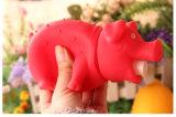 ビニールのShrillingの叫ぶ音のブタのピンクのおもちゃを緩めなさい