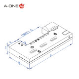 A-One Wire-Cut ajustable de acero de precisión de liberación rápida tornillo de banco 3A-210015