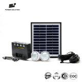L'énergie solaire portable Système d'éclairage de l'alimentation avec chargeur de téléphone pour la Maison et terrain de camping