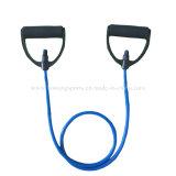 乳管の抵抗は引きロープの適性の練習ロープの試し、抵抗の管にバンドを付ける