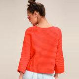 빨간 Ribbed 스웨터