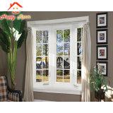 Calidad garantizada de cristal templado doble ventana aluminio/aluminio ventana