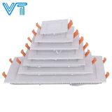 Popular de alta calidad 18W luz del panel de LED cuadrada