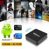 Van Mxq het PROAndroid7.1.2 Amlogics905X 1GB Vakje van de Ontvanger IPTV van het Vakje van ram/8gb- ROM TV Volledige Geladen Satelliet met WiFi, 4K 1080P het Steunen HD
