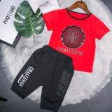 2018 L'été en deux pièces costume rouge + Noir Petit garçon
