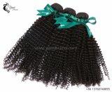 10A ONDULAÇÃO Kinky Brasileira 100% virgem trama de cabelo preto natural por grosso