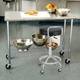 Edelstahl-Arbeits-Tisch-Regal-Draht-Zahnstange des Hotel-Gaststätte-Handelsküche-Geräten-#201