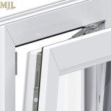 Los nuevos diseños de inclinación de vidrio doble turno revestido de madera Ventanas de aluminio