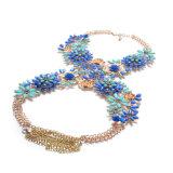 2017 de Nieuwe Juwelen van de Ketting van het Lichaam van de Bloem van het Kristal van Rhinstone van het Ontwerp Volledige voor Vrouwen