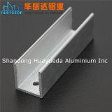 La protuberancia de aluminio anodizada Matt de plata perfila perfil industrial