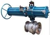 Actuador neumático accionar la válvula de bola con brida (WCB/SS304)