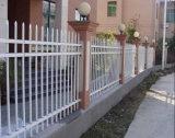 fer travaillé de revêtement de la poudre 3rails clôturant pour la résidence