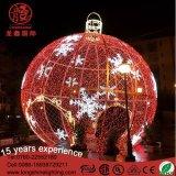 Ce/RoHSクリスマスのDecoraitonsの庭のための屋外の大きい8mの3Dゴム製球のモチーフライト
