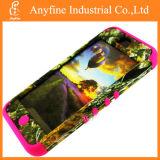 Pele rosa+Camo Árvore Mossy Tampa telefone equipado para Apple iPhone 5c