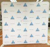 昇進を広告するためのまっすぐな床のPorable Flodingファブリック立場の背景幕