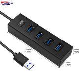 5 en 1 Interfaz USB Hub para el regalo promocional de alta velocidad de 4 puertos USB 3.0 Hub