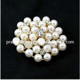 La primavera de la moda de joyería fina /2013 blanco perla con Clara Estrás Brooch Ecológico (PBr-007).
