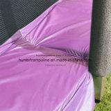 Trampolín redondo púrpura de 15 pies con recinto de la seguridad