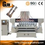 Máquina de grabado de madera Multi-Spindle Dt2212-8, ranurador rotatorio del CNC de 4 ejes