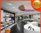 Hölzernes Furnier-BlattVerkaufsmöbel für Mann-Schuh-System, Schuhe verkaufen Bildschirmanzeige-Kiosk im Einzelhandel