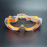 Lentille Anti-Fog châssis en caoutchouc souple de la sécurité Goggle (SG147)