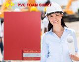 Folha de espuma de PVC vermelho por parte Molding-Hot 6-20mm