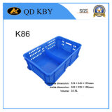 K86 Plastic Turnover Crate for Dairy Processing and Storage