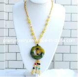 El verano de la moda de joyería de jade verde /2013 Dama Collar de piedras preciosas para mujeres adultas (PN-101)
