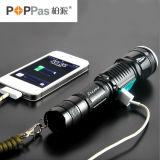 Klassische CREE Xm-L T6 USB-Energien-Bank-Taschenlampe Poppas-6611