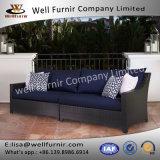 Sofa bon de patio de rotin de Furnir avec le coussin Wf-17035