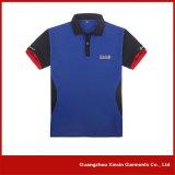 Poliéster personalizado que anuncia as camisas de polo baratas (P28)