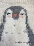 Ponticello acrilico del pinguino delle neonate - i capretti allineare hanno lavorato a maglia il maglione