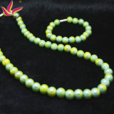 Color Verde Germanio y Turmalina Cuidado de la Salud Anion Set Collar