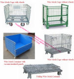 Pallet Rackのための鋼鉄Collapsible Wire Mesh Cage/Storage Basket