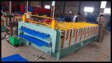 Roulis à grande vitesse de Double couche de tuile de toit de Dixin formant la machine