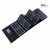 Chargeur solaire pliable multifonctionnel 40W avec sortie double USB et 18V DC pour ordinateur portable, charge de téléphone portable (FSC-40A)