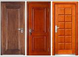 Folheado de interior da porta de madeira sólida com estilo moderno