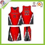 Vendas por atacado as mais atrasadas Sublimated personalizadas do projeto de Jersey do basquetebol