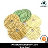Granite Stone Glossy Polishing를 위한 젖은 Using Polishing Pads