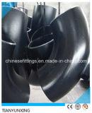 Cotovelos sem emenda soldados grande extremidade da tubulação de aço de carbono de ASTM