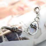 A prata do vintage do Rhinestone/a costa da cruz da esfera coração da Ouro-Cor perla braceletes