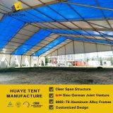 Grande barraca da exposição com as tampas de PVC da listra usadas para o festival da cerveja (hy012g)