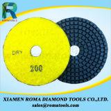 Romatools 다이아몬드 닦는 패드는 사용 50#를 적셨다